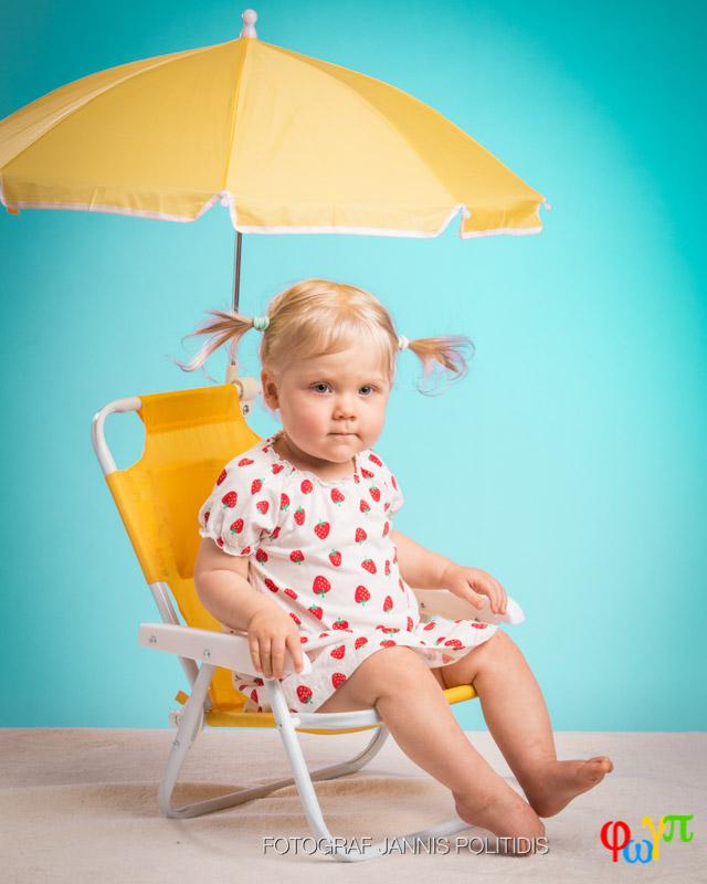 bebis vid strandstol