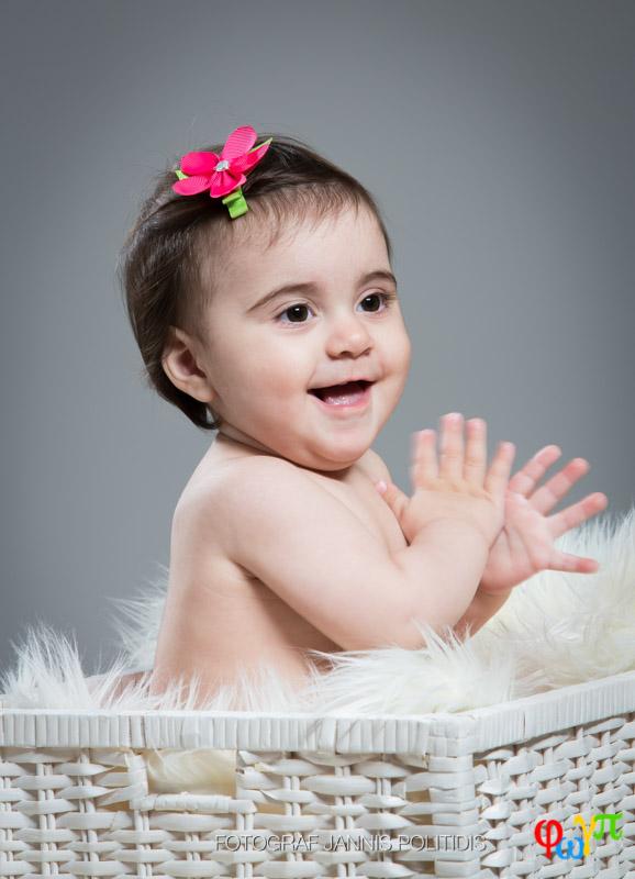 bebisfoto i korgen