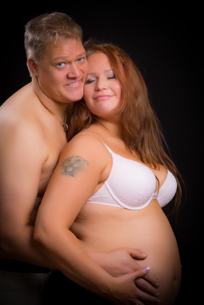 gravidfotografering med hela familjen