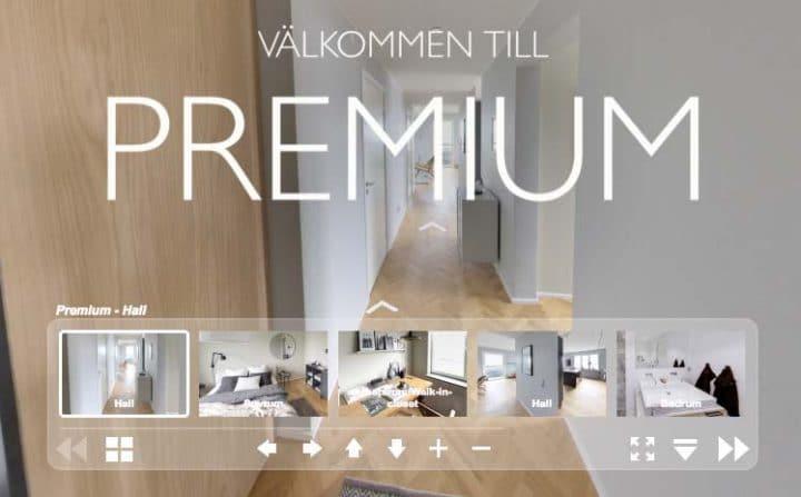 virtuell tur 360 lägenhet i Liljeholmskajen