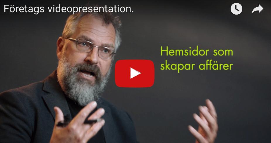 Företags videopresentation