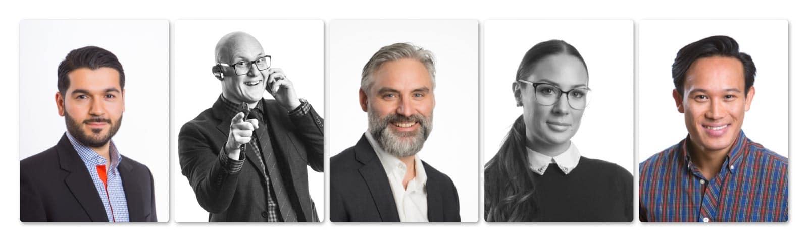 Porträttbilder i studio av Fotograf Jannis