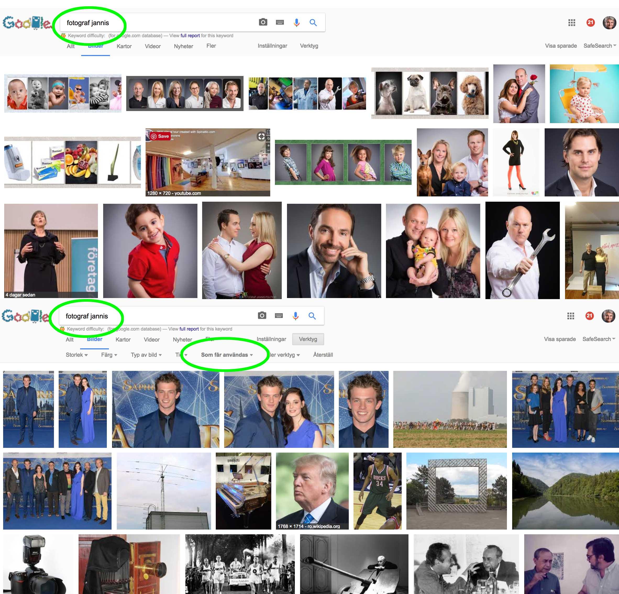 fotograf jannis exempel copyright-Optimera dina bilder för Google