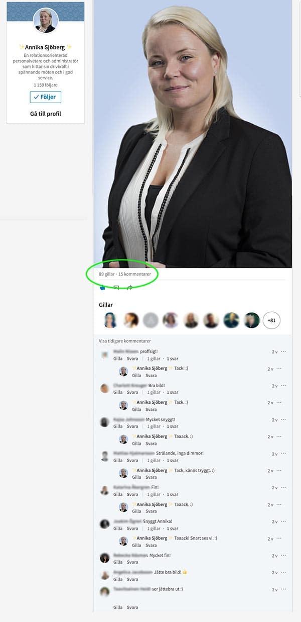 Linkedin profilbild