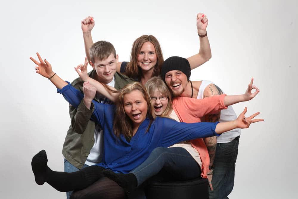 familjefotografering där glädje och liv är det viktigaste