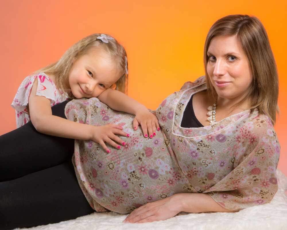 Gravidfotografering med barn