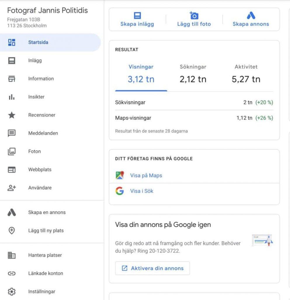 Google My Business marknadsföring