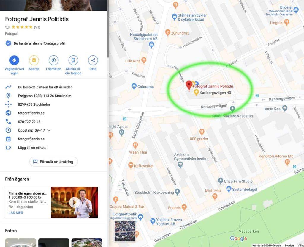Google My Business tips för marknadsföring