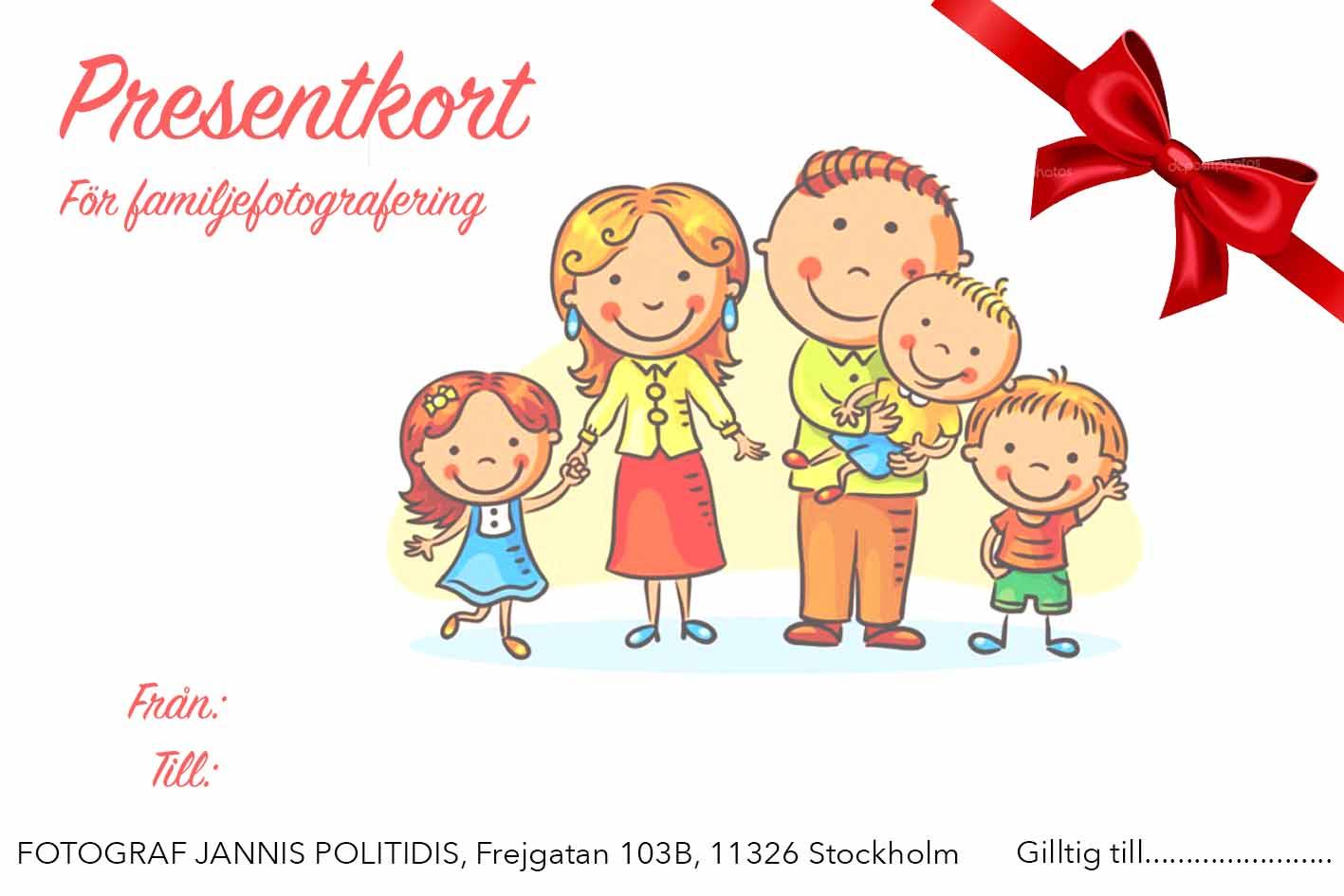 Presentkort familefotografering